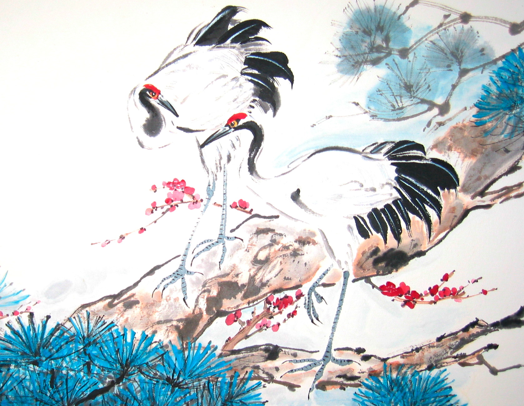 Flowers And Birds Chinese Brush Paintings By Bea Gee